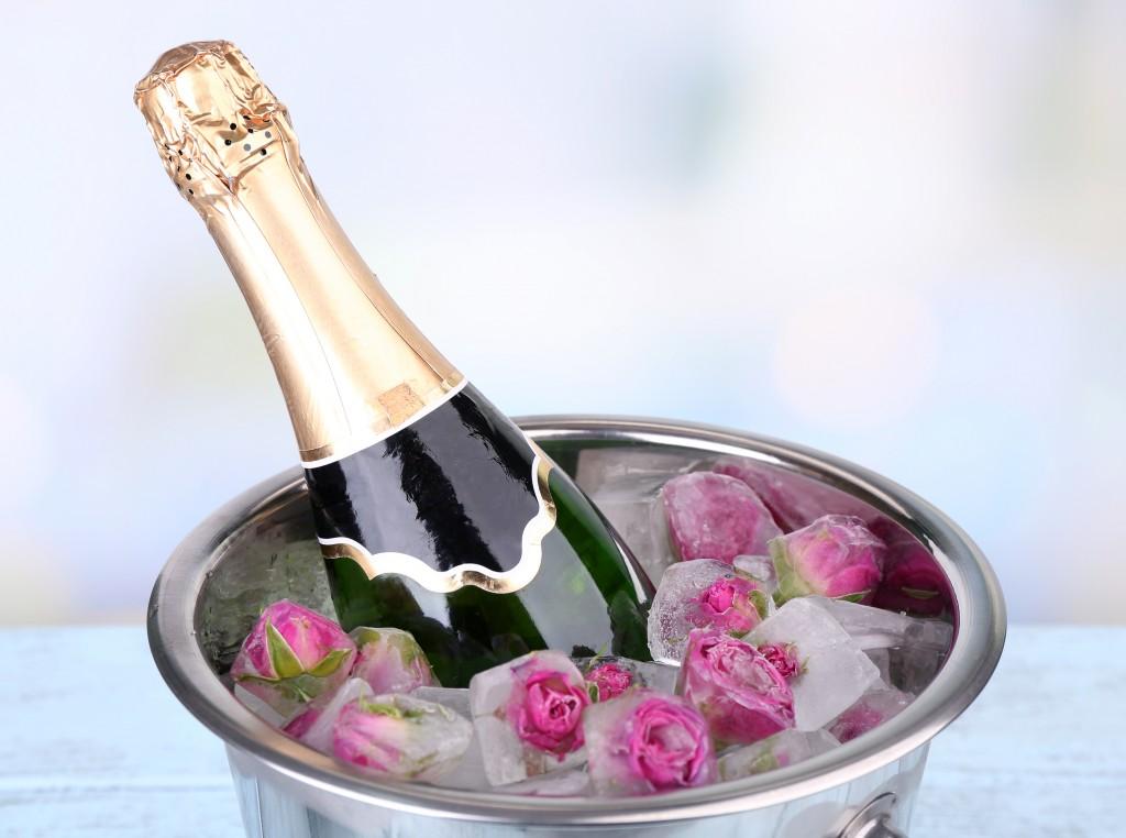 цветы во льду для шампанского МФЦ; страховой